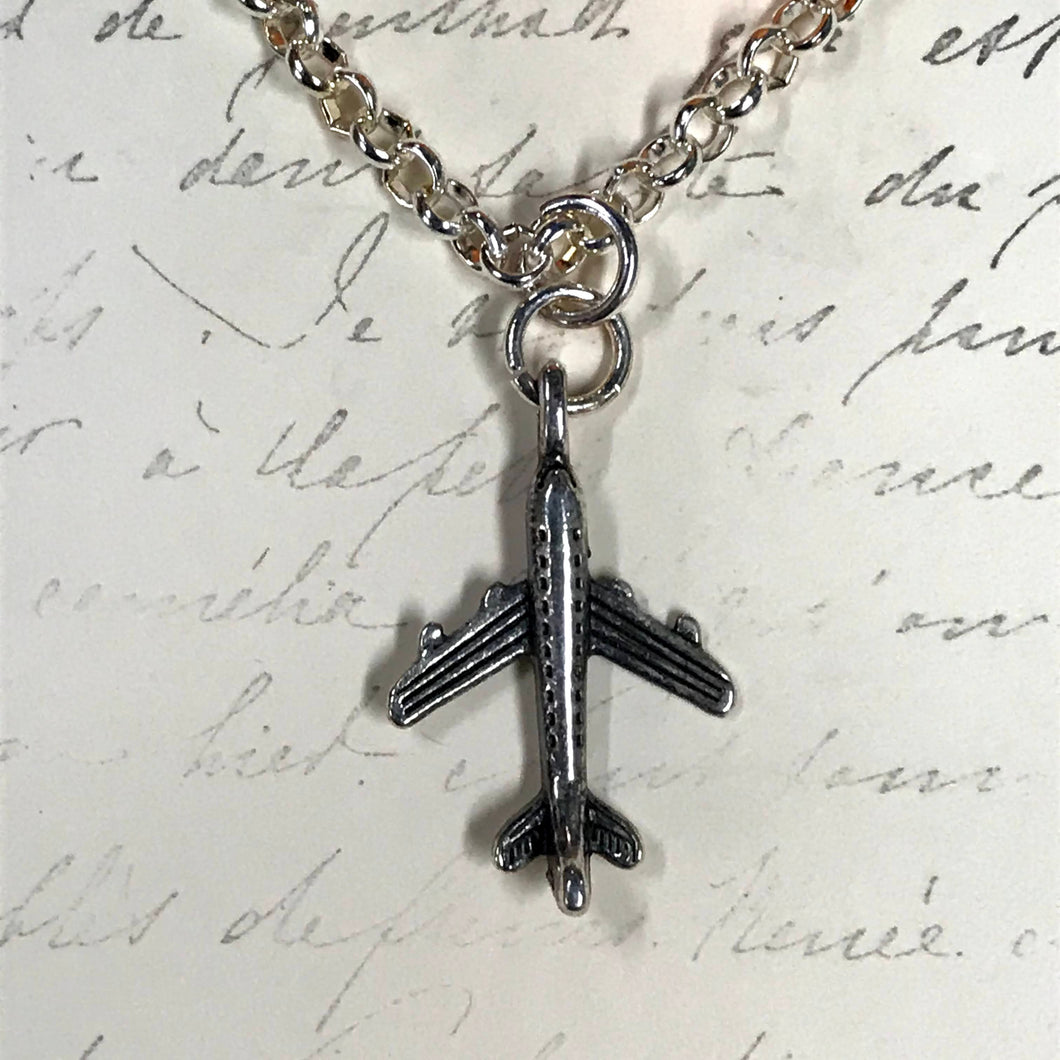 Airplane Charm Necklace