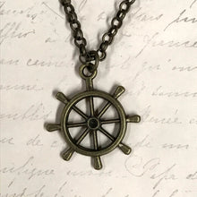 Load image into Gallery viewer, Big Boat Wheel Charm Necklace