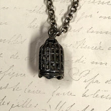 Load image into Gallery viewer, Bird Cage Charm Necklace
