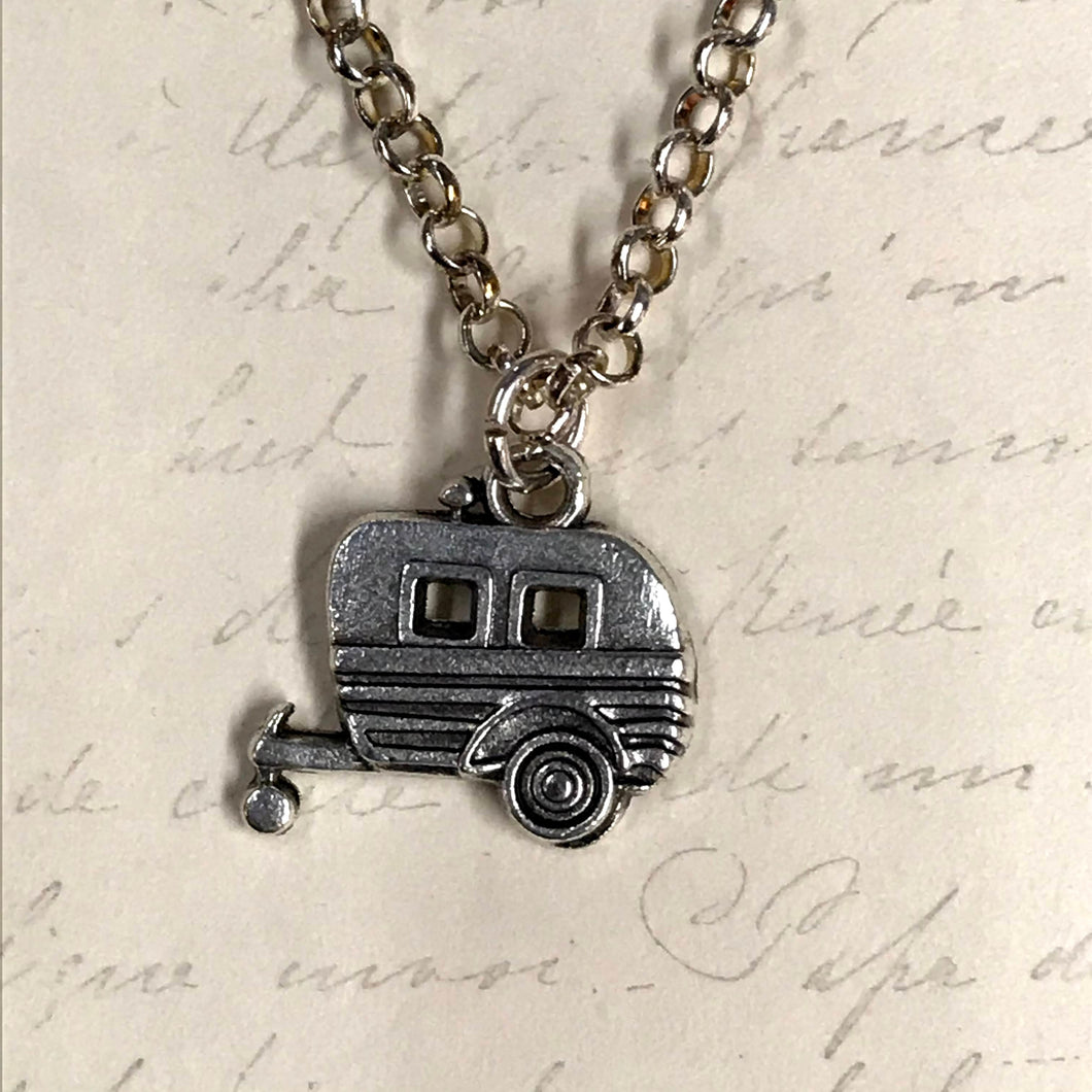Camper Trailer Charm Necklace