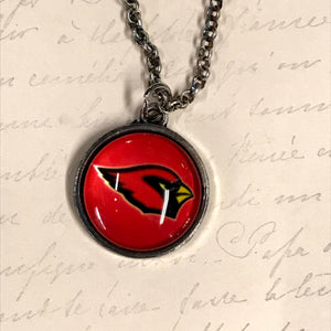 Cardinals Bubble Logo Charm Necklace