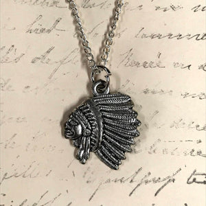 Chief Silhouette Charm Necklace