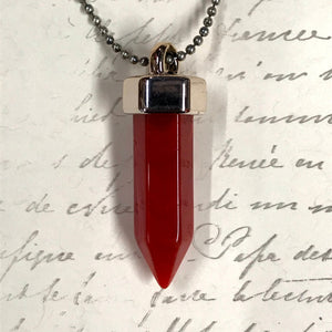 Crystal Point Charm Necklaces