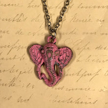 Load image into Gallery viewer, Decorated Elephant Face Charm Necklace