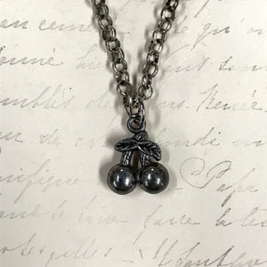 Double Cherries Charm Necklace