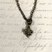 Load image into Gallery viewer, LAST CHANCE Misc Fleur de Lis Charm Necklace