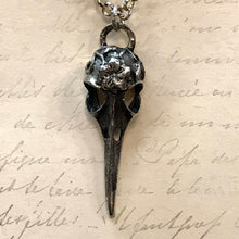 Load image into Gallery viewer, Floral Corvid Skull Charm Necklaces