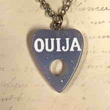 Load image into Gallery viewer, Glitter Resin Planchette Necklace