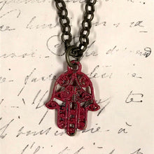 Load image into Gallery viewer, Hamsa Hand Charm Necklace