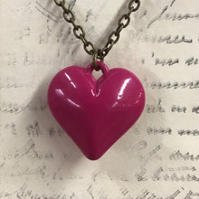 Load image into Gallery viewer, Lacquered Heart Charm Necklace