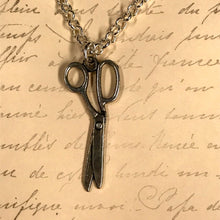 Load image into Gallery viewer, Long Scissors Charm Necklace