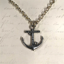 Load image into Gallery viewer, Love Anchor Charm Necklace