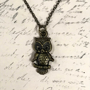 LAST CHANCE Misc Owl Charm Necklace