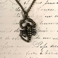 Load image into Gallery viewer, Scorpion Charm Necklace