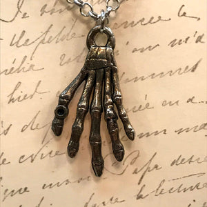 Skeleton Hand Charm Necklace