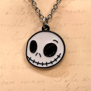 Smiling Jack Enamel Charm Necklace