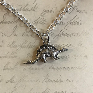 Stegosaurus Charm Necklace