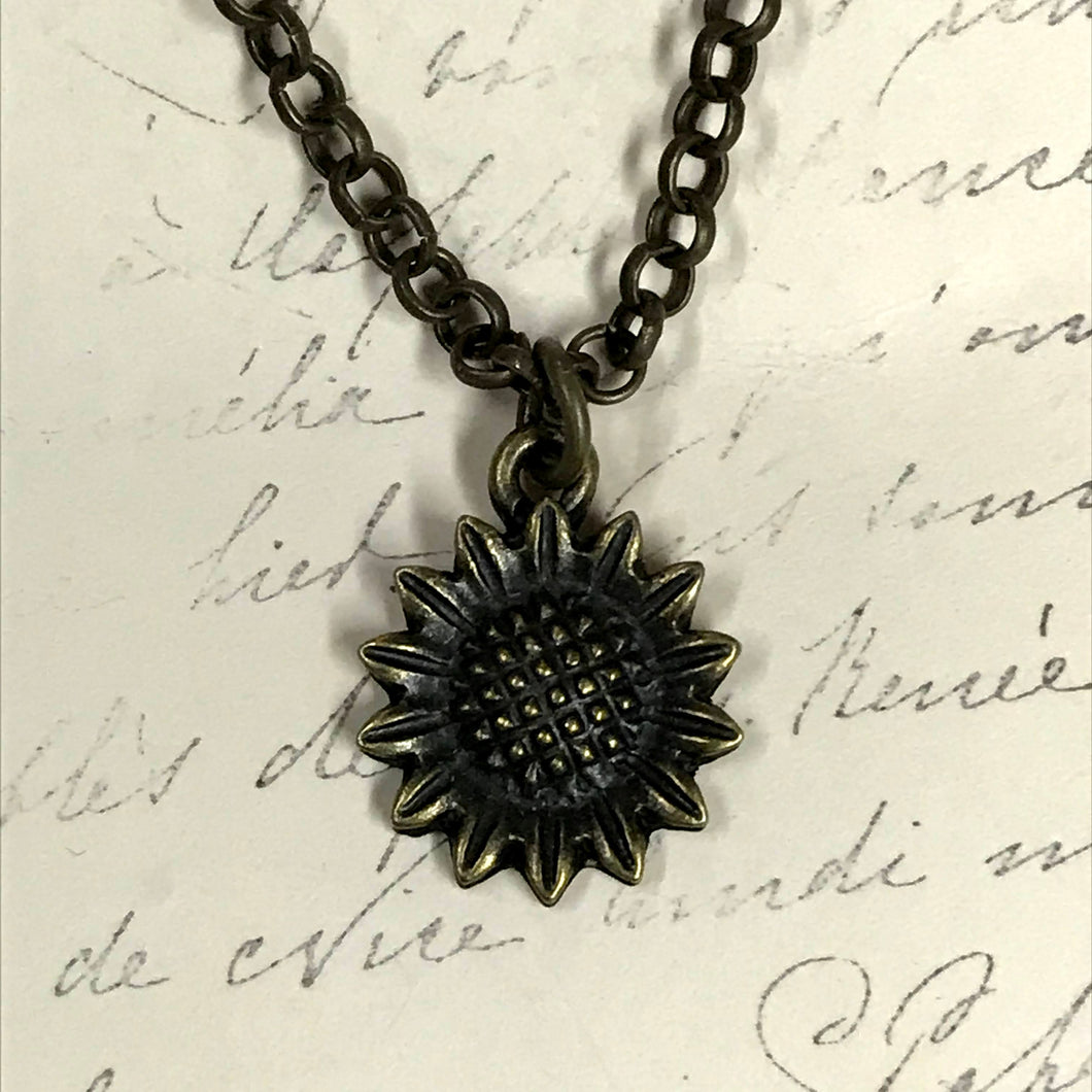 Sunflower Charm Necklace