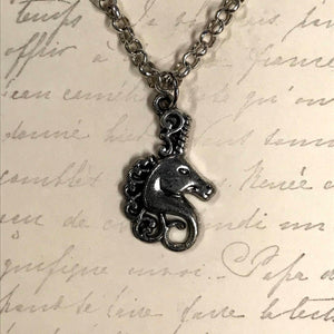 Swirly Maned Unicorn Charm Necklace