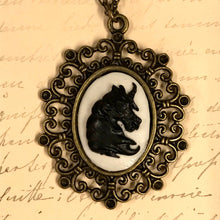 Load image into Gallery viewer, Unicorn Cameo Pendant Necklace