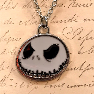 Unsettling Smiling Jack Enamel Charm Necklace