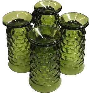 Green Glass Goblets