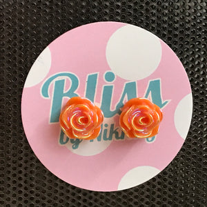 LAST CHANCE Misc Design Rose Stud Earrings