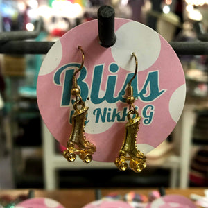 Roller Skate 3D Charm Earrings