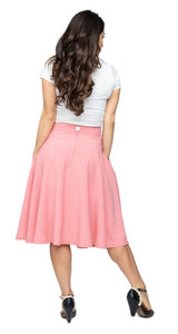 Blush High Waist Thrills Swing Skirt