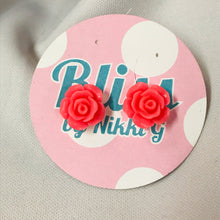 Load image into Gallery viewer, Matte Rose Stud Earrings