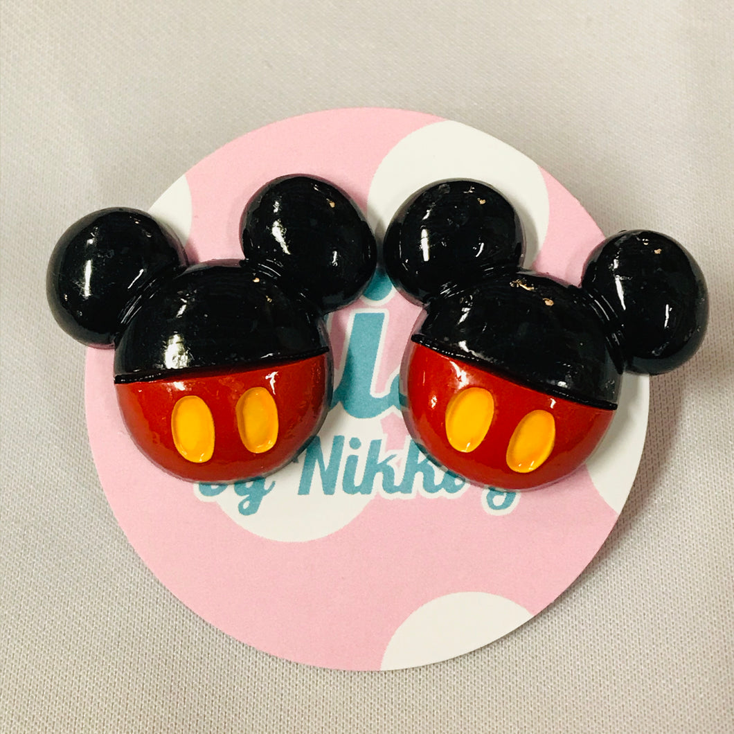 Mickey Ears Stud Earrings