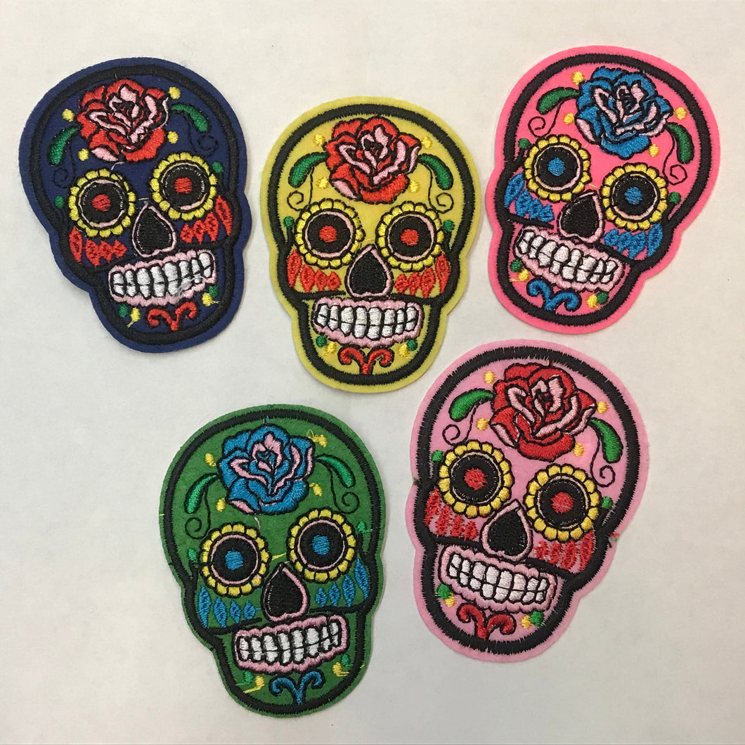 Mini Sugar Skull Patches