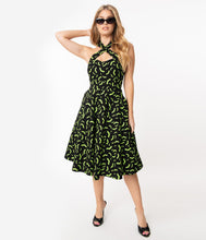 Load image into Gallery viewer, neon green bat dress