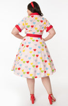 Load image into Gallery viewer, Valentine Heart Print Venus Swing Dress
