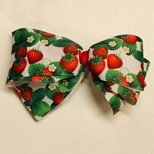 Strawberry Patch Xtra Large Hand Made Hair Bow