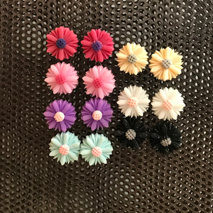 Colorful Daisy Stud Earrings