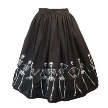 Load image into Gallery viewer, Dancing Skeletons Skirt