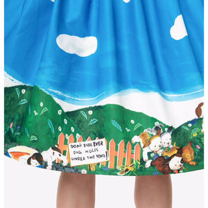 Pokey Little Puppy Little Golden Book Skirt- Size Large