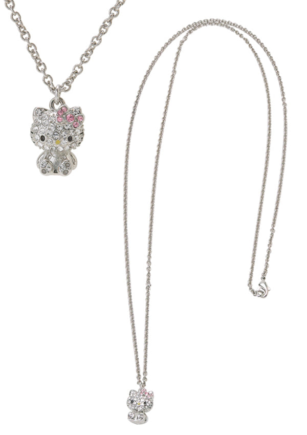 hello kitty 3D rhinestone necklace