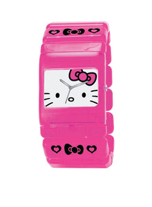 Hello Kitty Pink Rectangle Face Watch