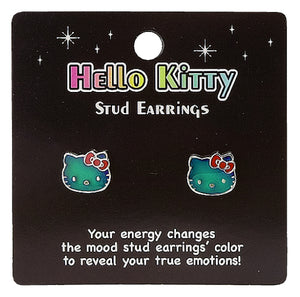 hello kitty mood earrings