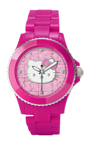 Hello Kitty Pink Glitter Face Watch