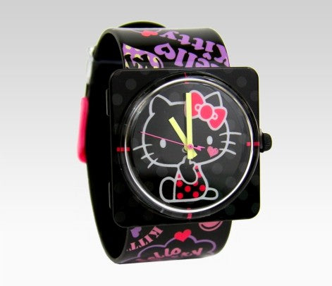hello kitty black and pnk square face watch 47904