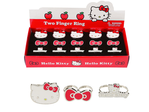hello kitty 2 finger ring adjustable