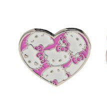 hello kitty heart face 2 finger ring