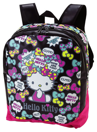 hello kitty bow 36742 coated nylon backpack