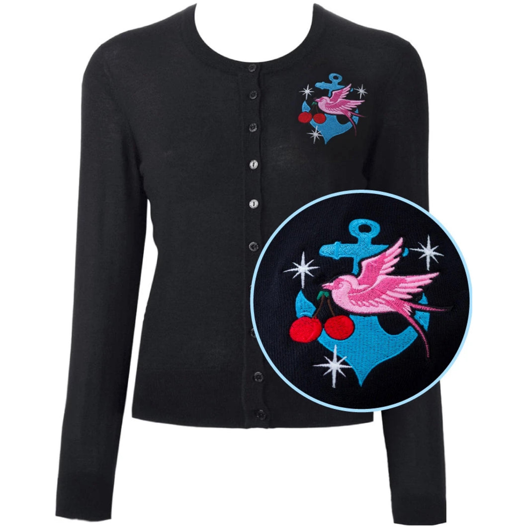 Swallow and Anchor Starburst Cardigan