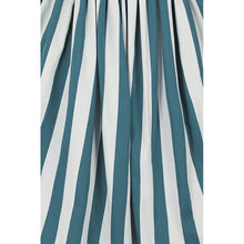 Load image into Gallery viewer, Rosie Green and White Striped Swing Skirt- HAS POCKETS!