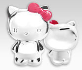 Hello Kitty Silver Piggy Bank