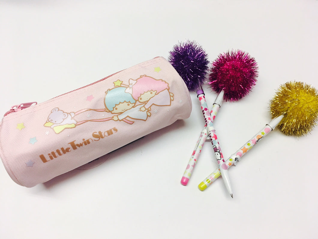 Little Twin Stars Cylinder Pencil Case